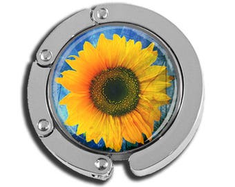NEW just for this holiday season!! Foldable Bag Purse Hook - Pretty Sunflower FHK116