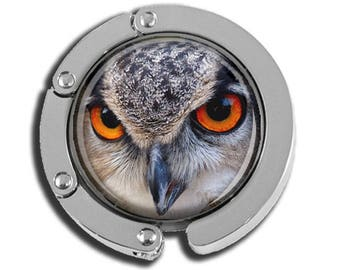 NEW just for this holiday season!! Foldable Bag Purse Hook - Lurking Owl FHK133