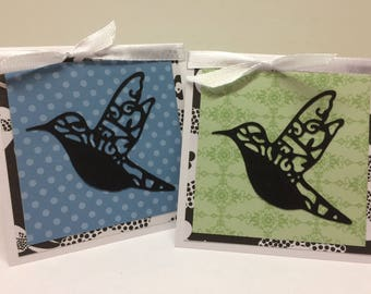 Hummingbird Gift Cards Set of Six 6 Love Friendship Lunch Box Love Notes Office Teacher Coworker Thank You Blank Bird Wings Fly All Occasion