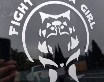 "Ahsoka Tano ""Fight Like A Girl"" Star Wars Rebels Inspired Car, Laptop, or Decor Vinyl Decal"