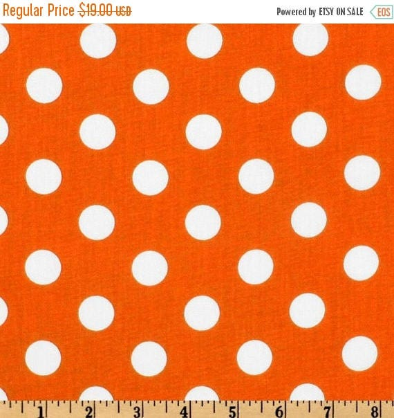 ON SALE TABLE Runner Polka Dot White on Bright Orange Wedding Bridal Home Decor Chic  Other colors available