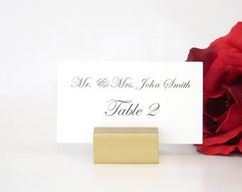 Gold Place Card Holder + Place Card Holder + Gold Wedding Place Card Holders (Set of 25)
