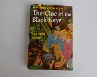 1951 #28 The Clue of the Black Keys by Carolyn Keene / Hardcover with Dust Jacket / Nancy Drew Mystery Stories