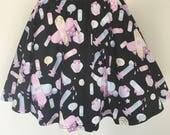 OUCH! Bandaid Heart Menhera Nurse Skirt, Menhera Dress, Pill Skirt