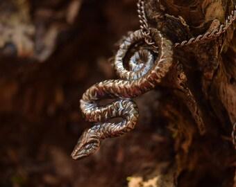 Serpent of Wisdom -- Bronze Pendant