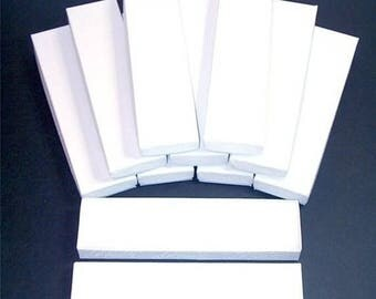 memorial day sale 20 Pack White Color Cotton Filled 8X2X1 Inch Size Retail Jewelry Gift Presentation Boxes