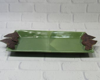 Appetizer Tray - Sushi Server - Crackers Dish - Cheese Dish - Dresser Valet - Trinket Tray - Jewelry Dish - Ring Dish - Eyeglasses Tray