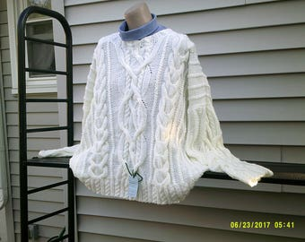 Celtic pullover with cable designs