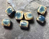 Handmade ceramic beads Ceramic beads Porcelain clay beads for jewelry Natural color beads