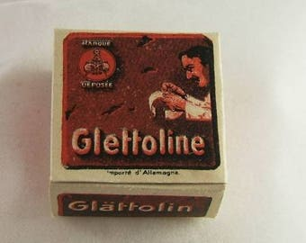 Vintage Box of Glattoline / Glattolina / Glettoline Collar Wax (Germany)