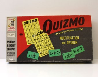 Quizmo. 1950s vintage educational math game.