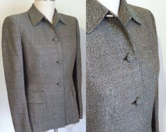 sale --- Vintage 1940s 1950s Wool Tweed Suit Jacket
