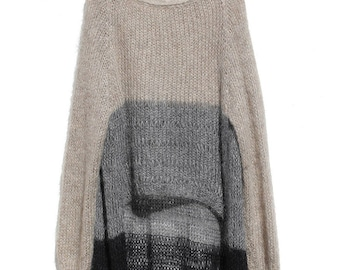 Vintage Wool Mohair Oversized Sweater