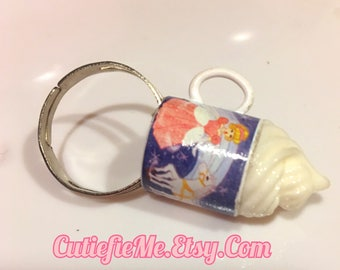 Princess Cinderella Cup With Whipped Cream Ring