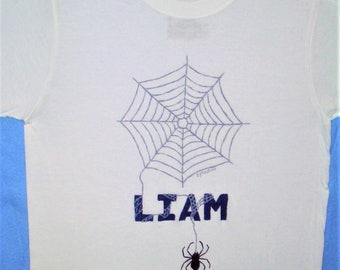 Spider Shirt, Personalized Spider Shirt, Kids Novelty Shirt, Boys Clothing,  Kids Bug Shirt, Insect Shirt, Personalized Bug Shirt