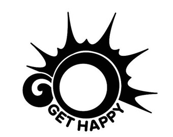 BACK to SCHOOL SALE Go Get Happy Decal [002]