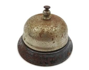 Vintage Desk Bell - Old Metal Service Bell