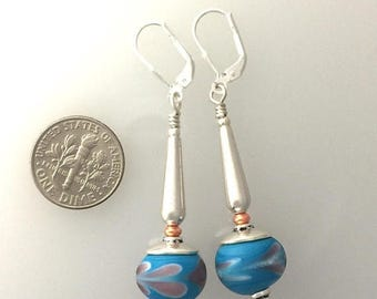 OnSale Lamp Work Glass and Sterling Silver Earrings. #4