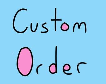 Custom Order for William Valentine - Mercorgi Plushie