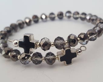 cross bracelet for women, religious gift, spiritual jewelry, confirmation gift, communion gift, mothers day gift mom gifts from daughter