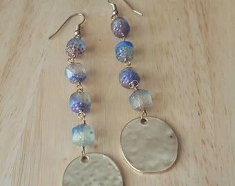 Long gold earrings, bohemian earrings, dangle earrings, statement earrings, boho jewelry, mothers day gift mom gifts from daughter