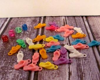 Plastic Flip Flop Charms