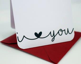 I Love You Cards / Love You Mini Cards / Florist Cards / Enclosure Cards / I Love You Mini Cards / Cards with Envelopes / mad4plaid
