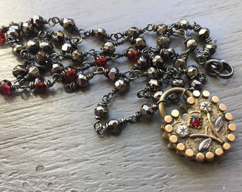 Victorian Padlock Fob Necklace