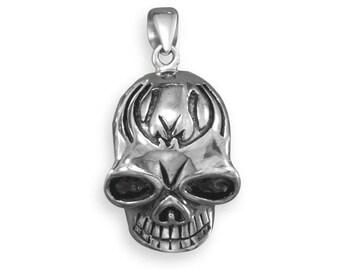 Skull Pendant - Stainless Steel Skull Pendant - Pendant For Men - Biker Skeleton Head Pendant - Goth Skull - Gothic Skull Pendant - Jewelry