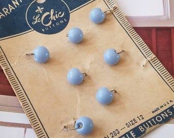 Vintage Buttons - 1 card small matching cottage chic balls 1940's Le Chic on original card(Aug 263 17)