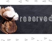 Reserved Pillow for Savannah