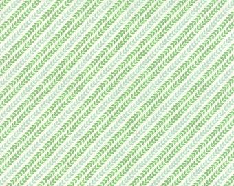Christmas garland aqua North woods by Kate Spain Moda Fabrics 27248 16, green fabric, aqua fabric, kate spain fabric, bias stripe fabric