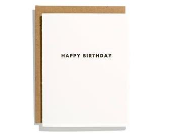 Futura Birthday - Letterpress Birthday Card - CB153