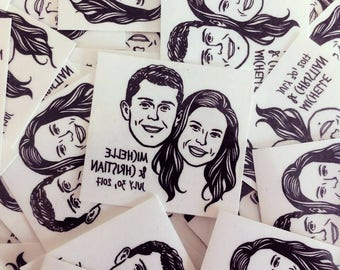 Wedding favors for guests Personalized gift custom Portrait tattoos invitations / temporary tattoo / gift ideas invitations save the date