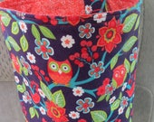 Trash Bin, Car Trash Bag, Cute Car Accessories, Headrest Bag, Trash Container, Owls, Birds, and Flowers