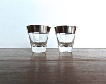 Dorthy Thorpe Shot Glasses, Set of 2, Mid Century Modern Barware