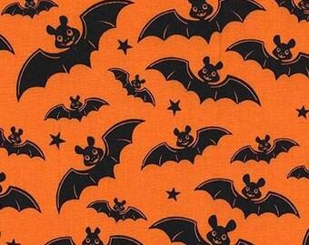 Three (3) Yards -A Little Batty Bat Halloween Michael Miller Fabrics CX6950-ORAN-D Orange