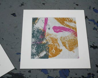 Isolated Moment #32: Original Abstract Painting on Paper