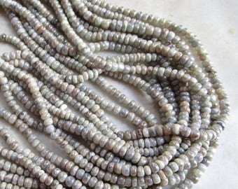 20% OFF SALE Mystic Silverite Rondelle Beads 3mm, Natural Silver White gemstone Look Of Diamonds,