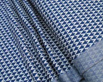 lillestoff Jacquard knitwear Triangle marine Organic-Cotton 0.54yd (0,5m) 003343