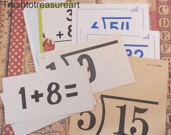 Fun & Games Vintage Flashcards  Math  set of 8