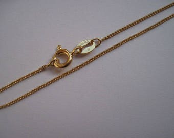 20 inch Fine Curb Chain, 14K gold fill Necklace with Spring Clasp, Layering Chain or for fine charms and pendants