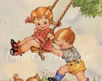 Collection of Cuties Volume 2 - Sentiment Free- Vintage Greeting Card Images on CD 400 Images