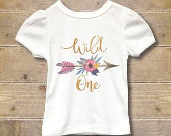 Wild One, First Birthday Shirt, First Birthday Outfit, Girl's First Birthday Shirt, Girl's Shirt, 1st Birthday Shirt, Party Shirt, One