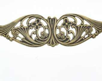 Filigree wing 75mm, brass stamping sold, each  03607AG
