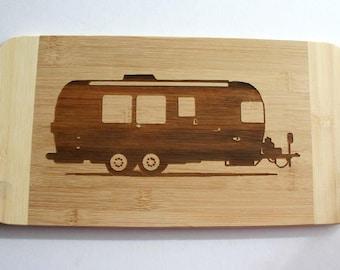 Air Stream Trailer Engraved Bamboo Wood Cutting Board Camping Gift Airstream RV