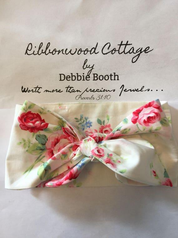 Baby Head Wrap- Lecien Flower Sugar Fabric