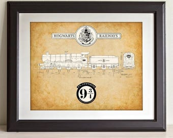 Hogwarts Express - 11x14 Unframed Patent Print - Great Gift for Harry Potter Fans