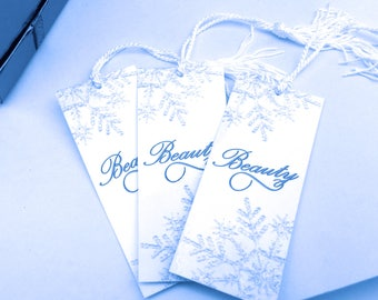 Snowflake Bookmark - Inspirational Bookmarks - Winter Bookmark Gift - Book Club Favors - Winter Bookmark Set - Holiday Bookmark Favors