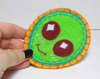 alien felt sew-on patch
